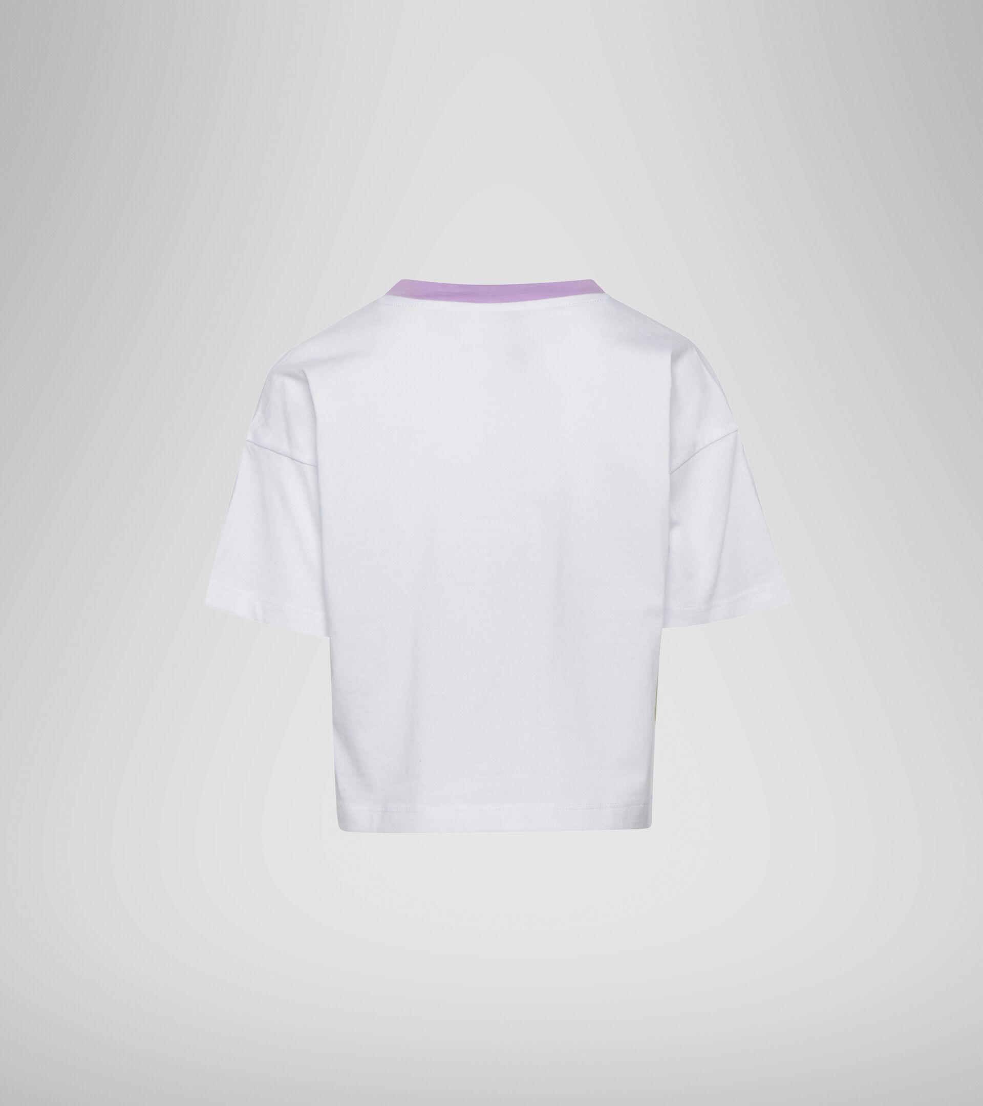 Camiseta - Niñas JG. T-SHIRT SS LOGO MANIA BLANCO VIVO - Diadora