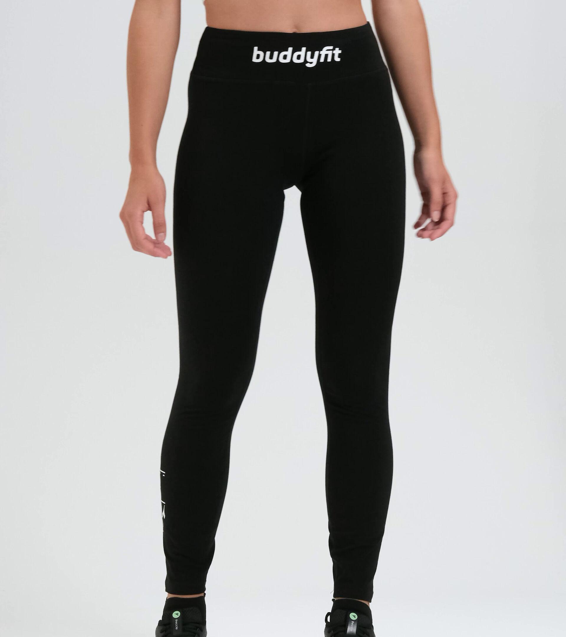 Women's workout leggings L. STC LEGGINGS BUDDYFIT BLACK - Diadora