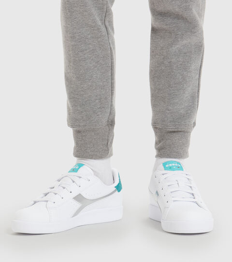 Chaussures de sport - Jeunes 8-16 ans GAME P GS GIRL BLANC/BLEU TURQUOISE - Diadora