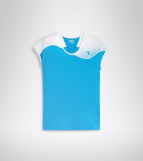 T-shirt da tennis - Donna L. T-SHIRT COURT AZZURRO FLUO - Diadora