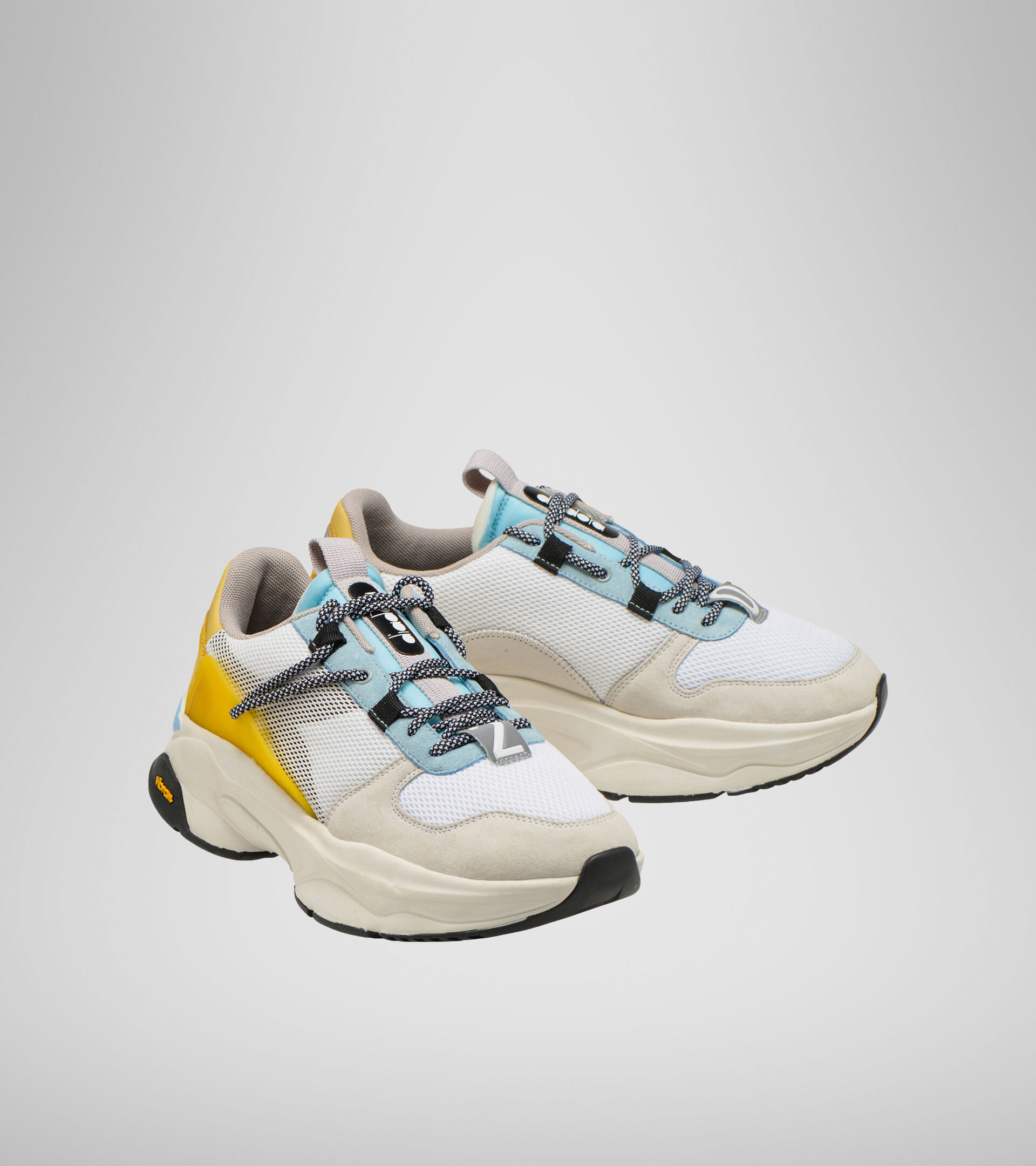 Footwear Sportswear UNISEX TERRENA NYLON WHITE/YELLOW MET Diadora