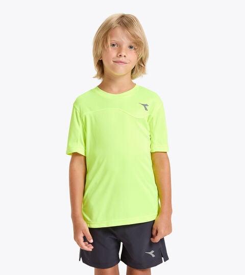 Tennis-T-Shirt - Junior J. T-SHIRT TEAM FLUO GELB DD - Diadora