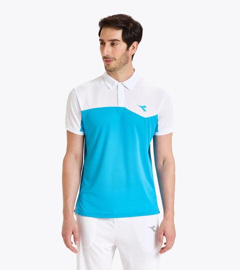 Polo de tenis - Hombre POLO COURT AZUL REAL FLUO - Diadora