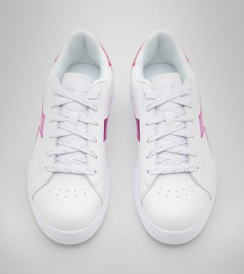 Footwear Sport BAMBINO GAME STEP DIAMONDS GS BIANCO/ROSA FUCHSIA Diadora