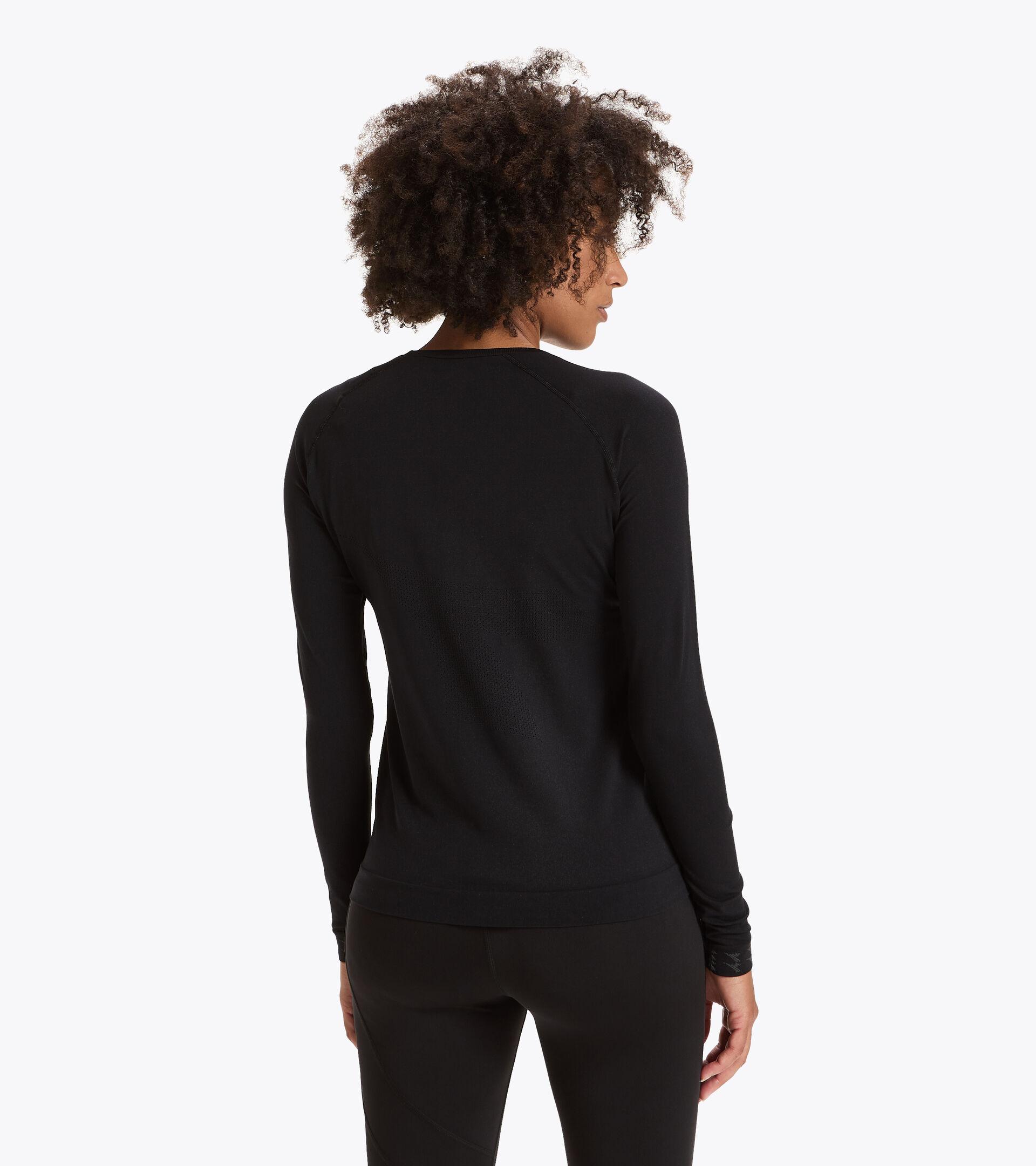 Camiseta para correr Made in Italy - Mujer L. LS SKIN FRIENDLY T-SHIRT NEGRO - Diadora