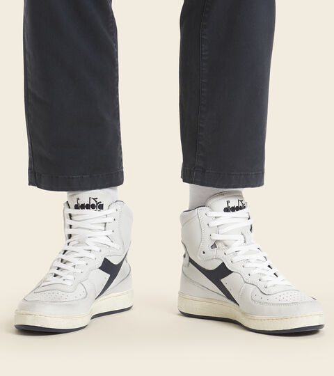 Footwear Heritage UNISEX MI BASKET USED WHITE/BLUE CORSAIR Diadora