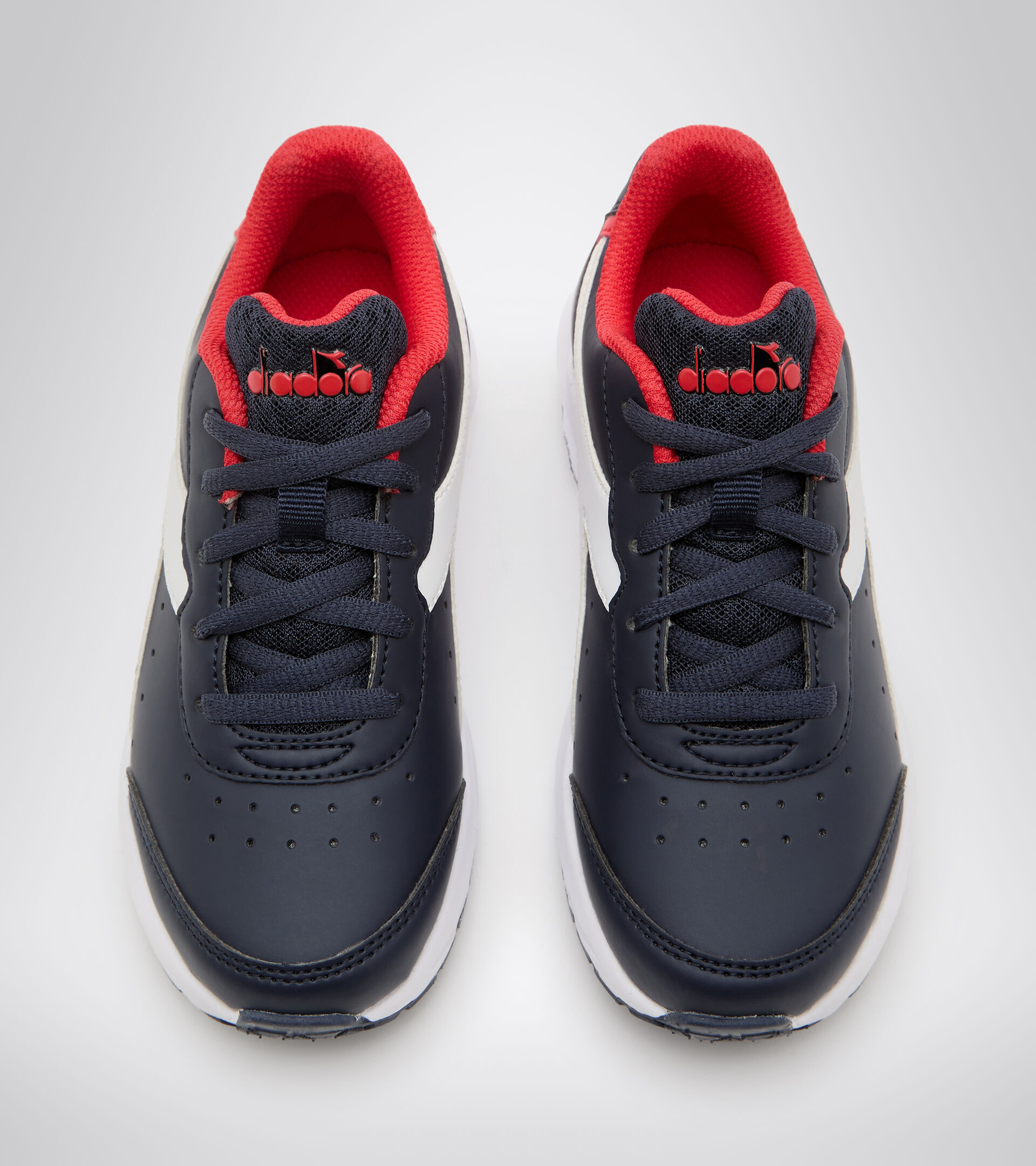 Running shoe - Kids FALCON SL JR ESTATE BLUE/HIGH RISK RED - Diadora