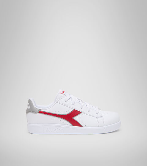 Sports shoes - Youth 8-16 years GAME P GS WHITE/TANGO RED - Diadora