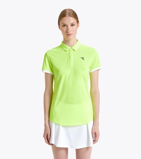 Tennis-Polohemd - Damen L. POLO COURT FLUO GELB DD - Diadora