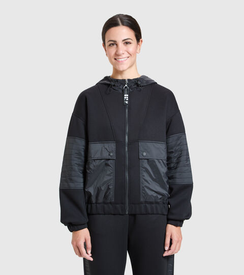 Sports jacket - Women  L. TRACK JACKET URBANITY BLACK - Diadora