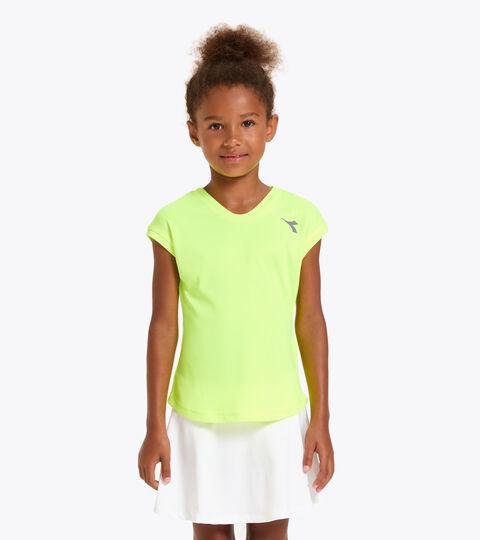 Camiseta de tenis - Junior G. T-SHIRT TEAM AMARILLO FLUO DD - Diadora