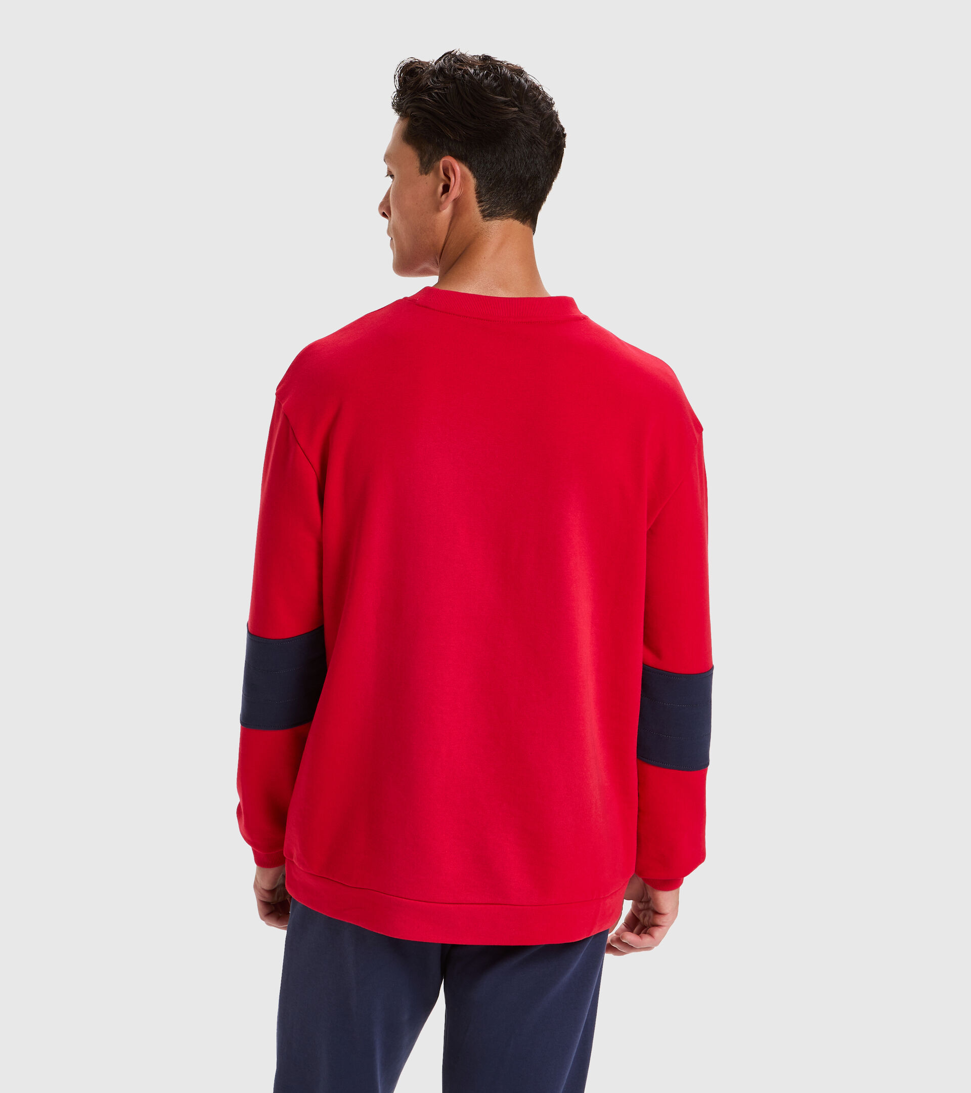 Apparel Sport UOMO SWEATSHIRT CREW SHIELD TANGO RED Diadora