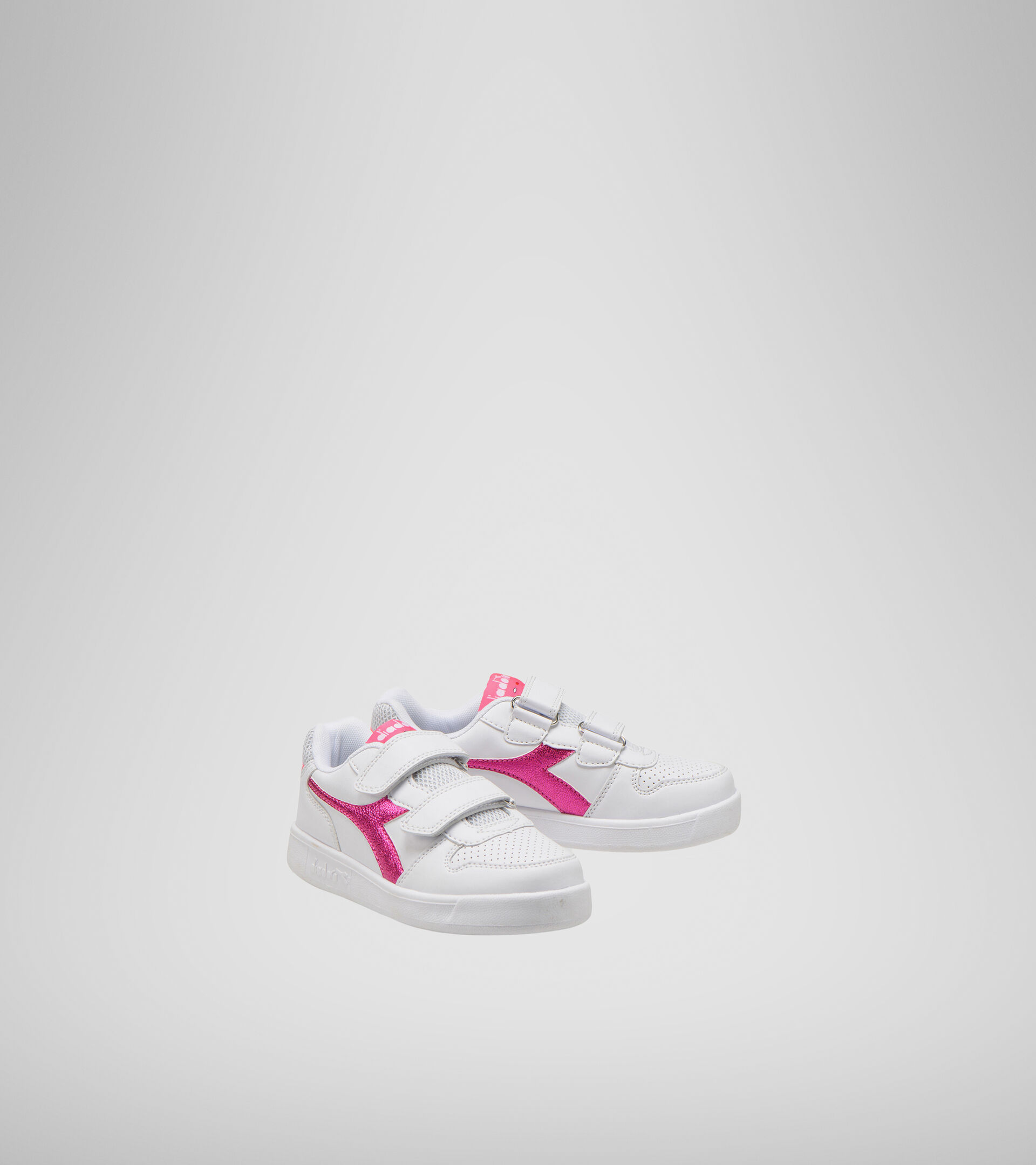 Sports shoes - Kids 4-8 years PLAYGROUND PS GIRL WHITE/PINK FLUO - Diadora