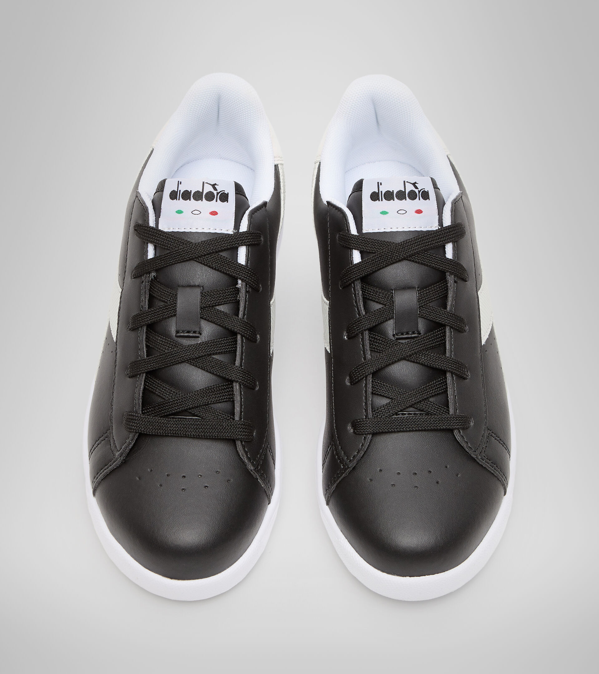 Sports shoes - Youth 8-16 years GAME P GS GIRL BLACK /WHITE - Diadora