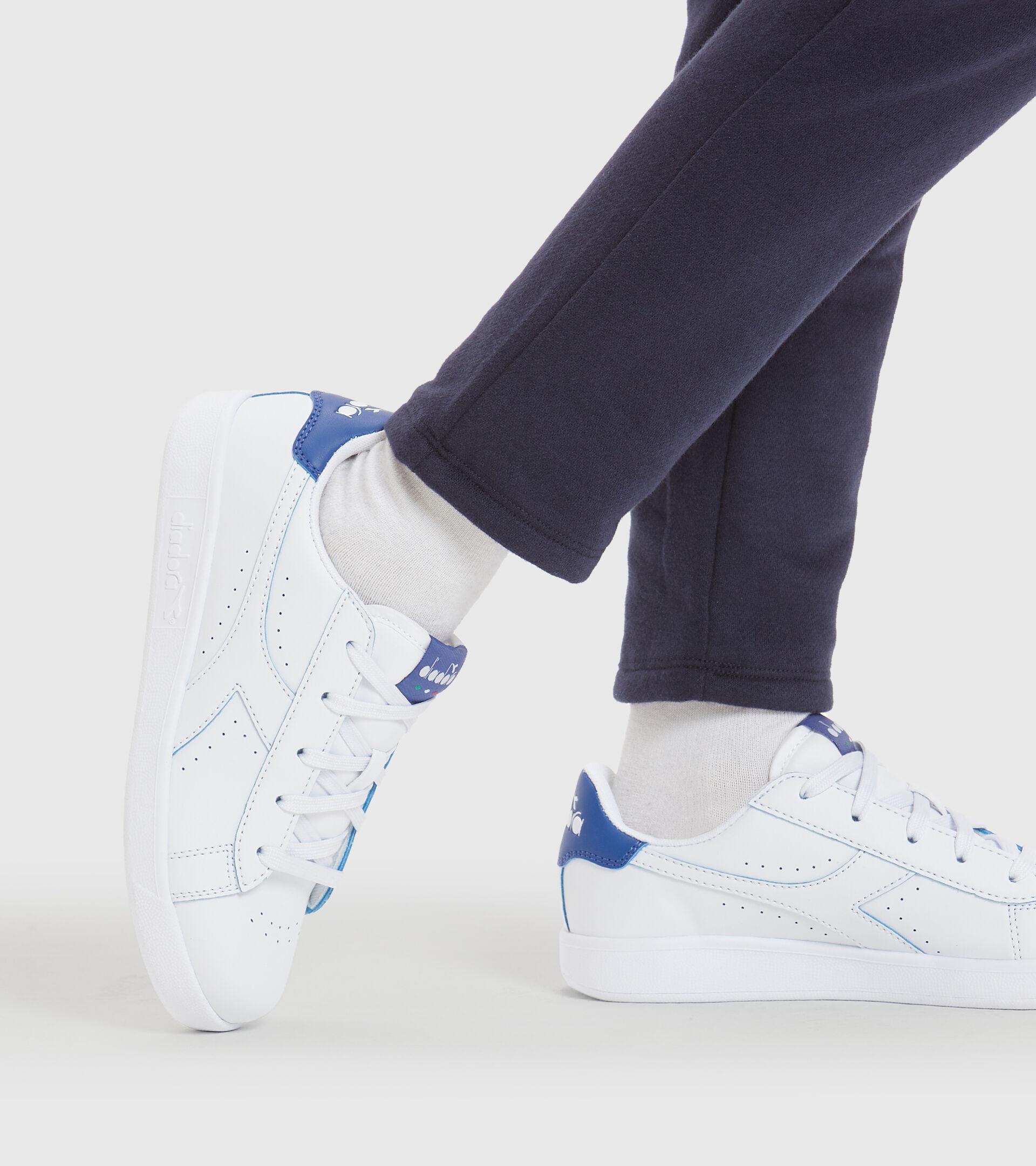 Footwear Sport BAMBINO GAME P SMASH GS WHITE/BLUE EYES Diadora