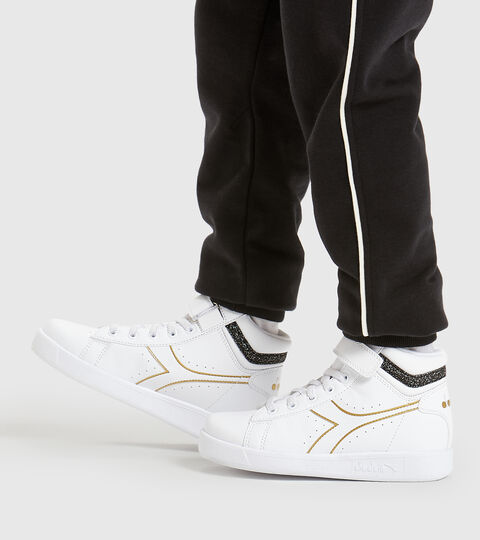 Footwear Sport BAMBINO GAME P HIGH GIRL PS BIANCO/NERO/ORO Diadora