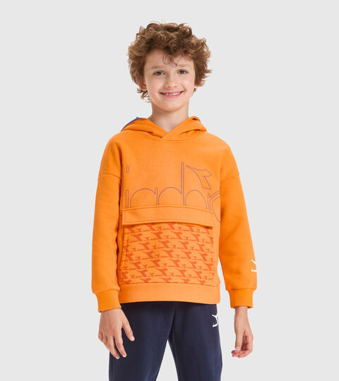 Hooded sweatshirt - Kids JB.HOODIE HOOPLA PERSIMMON ORANGE - Diadora