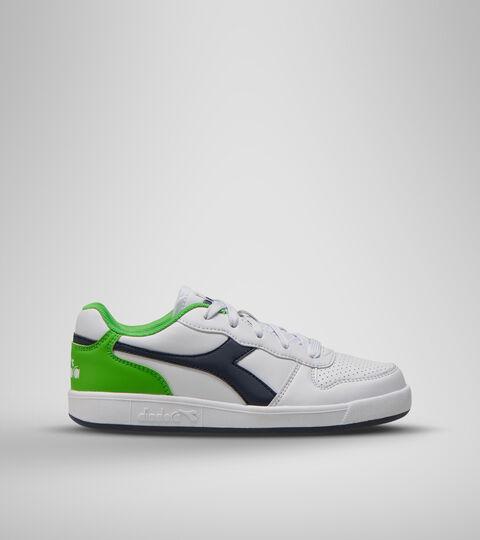 Chaussures de sport - Jeunes 8-16 ans PLAYGROUND GS BLC/NOIR IRIS/VERT CLASSIQUE - Diadora