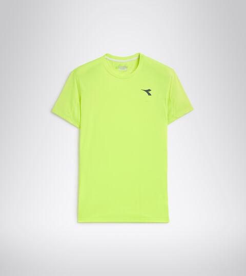 Camiseta de tenis - Hombre T-SHIRT TEAM AMARILLO FLUO DD - Diadora