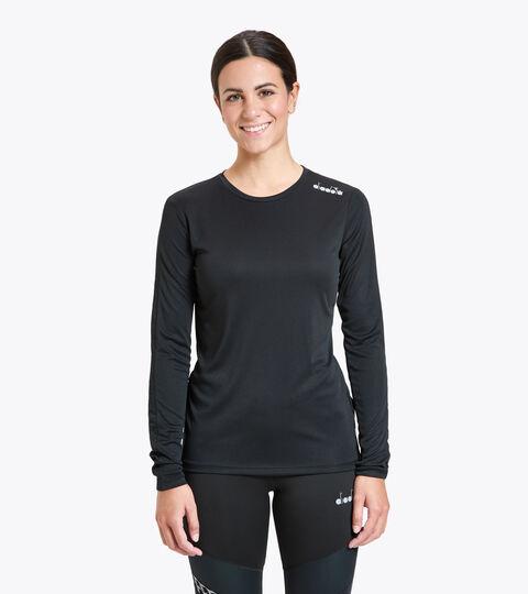 Running T-shirt - Women L. LS CORE TEE BLACK - Diadora