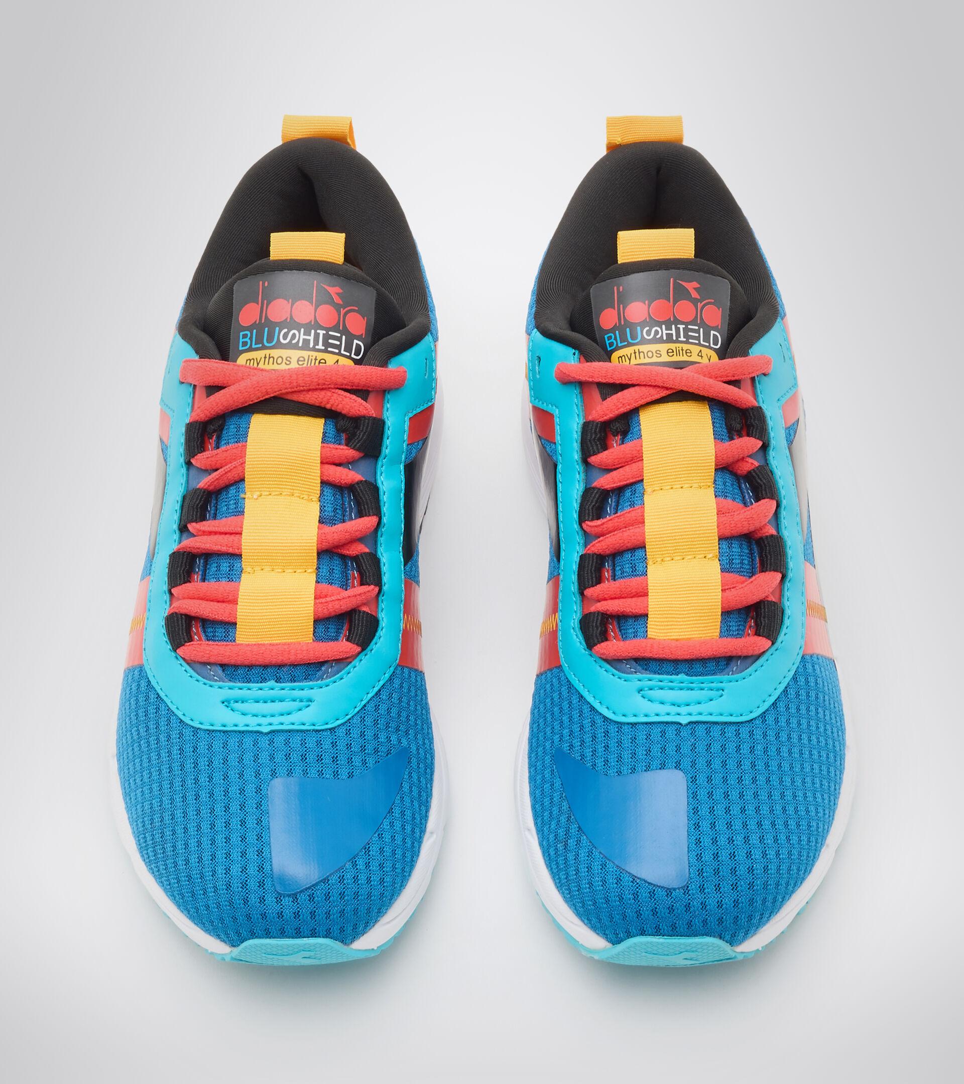 Footwear Sport BAMBINO MYTHOS BLUSHIELD ELITE 4 Y BLU MYKONOS/NERO/ROSSO FIESTA Diadora