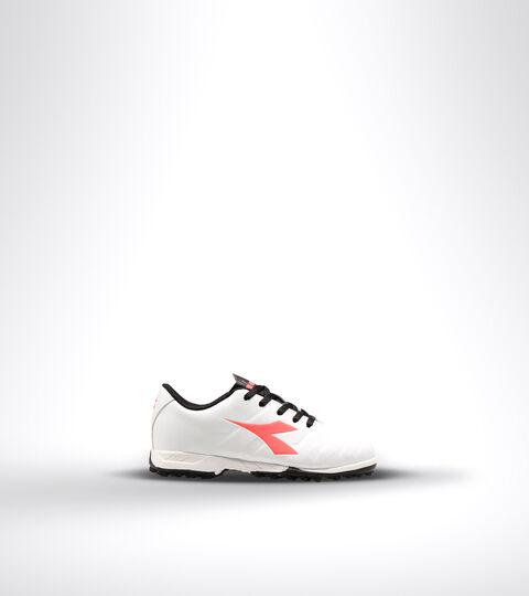 Hard ground and artificial turf football boot - Unisex kids PICHICHI 3 TF JR WHITE/BLACK/RED FLUO - Diadora