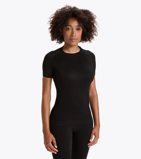 Trainings-T-shirt - Damen L. SS T-SHIRT ACT SCHWARZ - Diadora