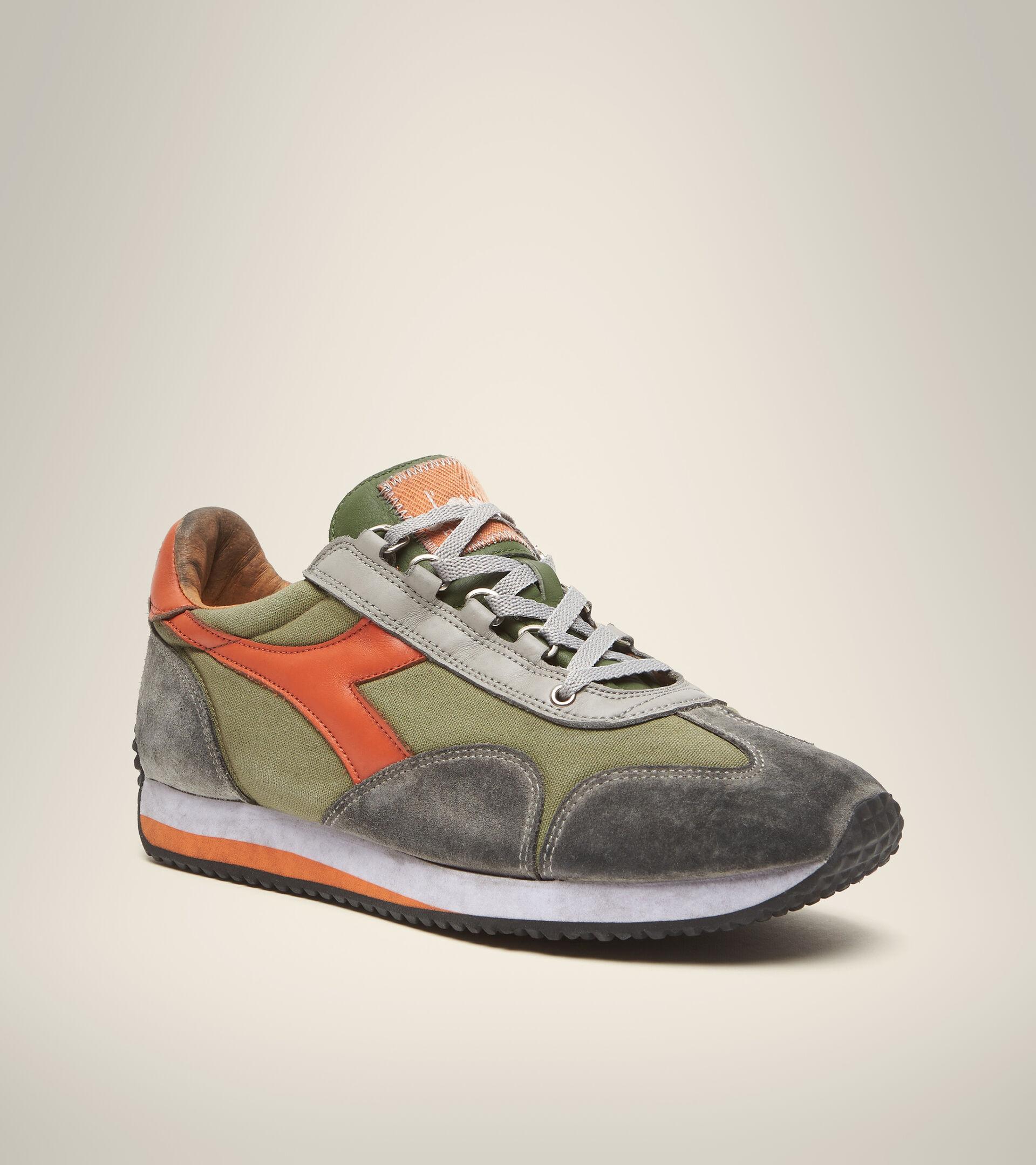 Footwear Heritage UNISEX EQUIPE H DIRTY STONE WASH EVO GREEN LODEN Diadora