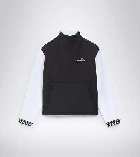 Sweat-shirt de running - Femme L. SWEAT BE ONE BLANC/NOIR (C0351). - Diadora