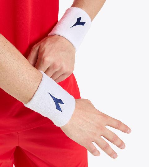 Accessories Sport UNISEX WRISTS BAND COURT LARGE OPTICAL WHITE Diadora