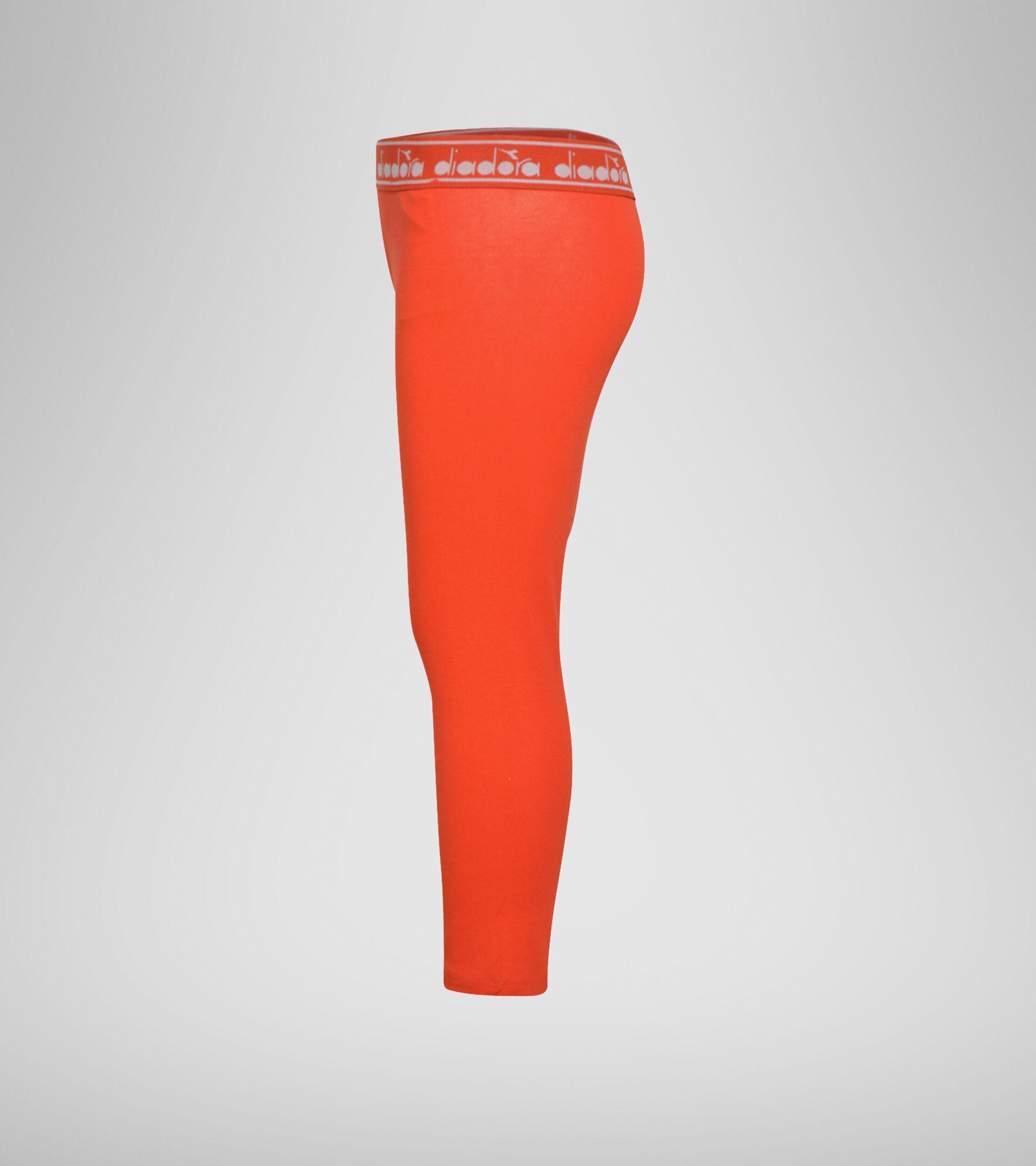 Leggings - Girls JG. LEGGINGS LOGO MANIA FIESTA RED - Diadora