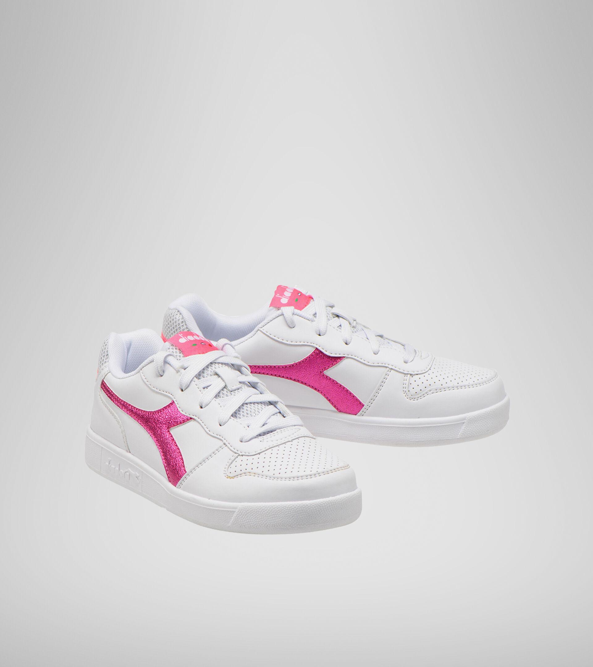 Footwear Sport BAMBINO PLAYGROUND GS GIRL WHITE/PINK FLUO Diadora