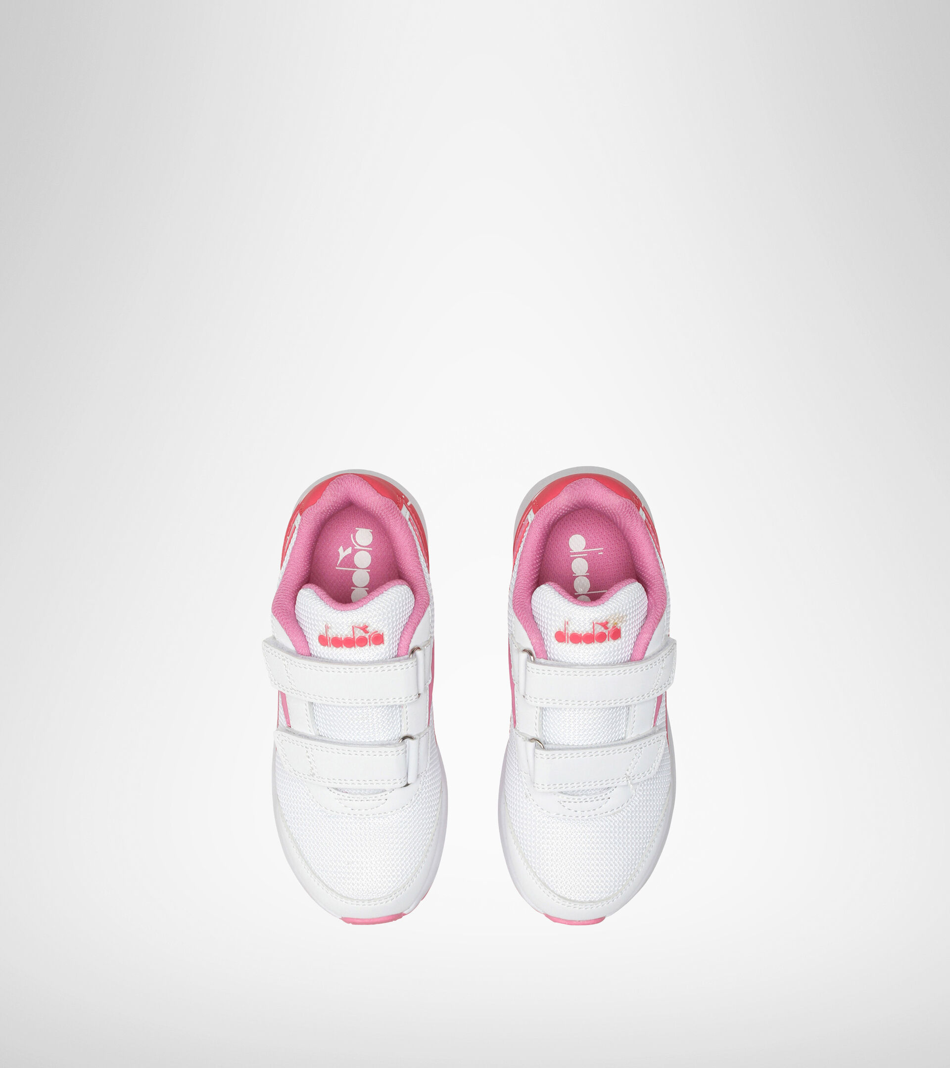 Chaussures de running - Unisexe Enfant FALCON JR V BIANCO/ROSA ORCHIDEA - Diadora
