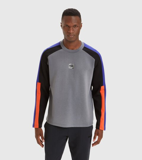 Apparel Sportswear UOMO SWEATSHIRT CREW URBANITY GRIGIO ACCIAIO Diadora