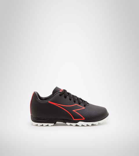 Synthetic pitch football boots - Kids PICHICHI 4 TF JR BLACK/FLUO RED/WHITE - Diadora