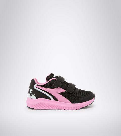 Chaussures de running - Unisexe Enfant FALCON JR V NOIR/BEGONIA ROSE - Diadora