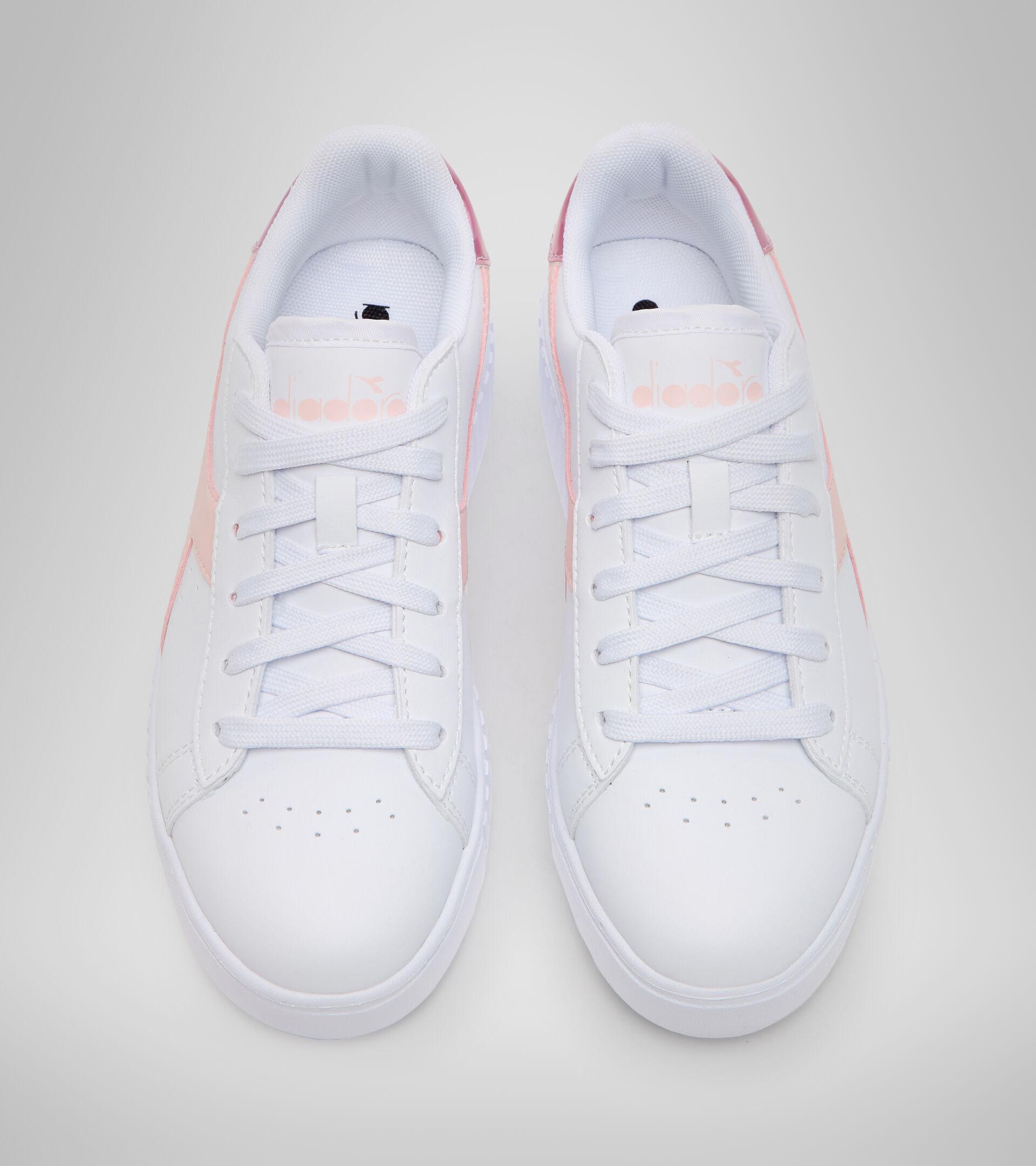 Chaussures de sport - Jeunes 8-16 ans GAME STEP GS BLANC/ROSE VOILEE - Diadora