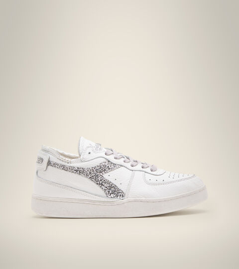 Heritage shoe - Women MI BASKET ROW CUT ANDROMEDA WN WHITE/SILVER - Diadora