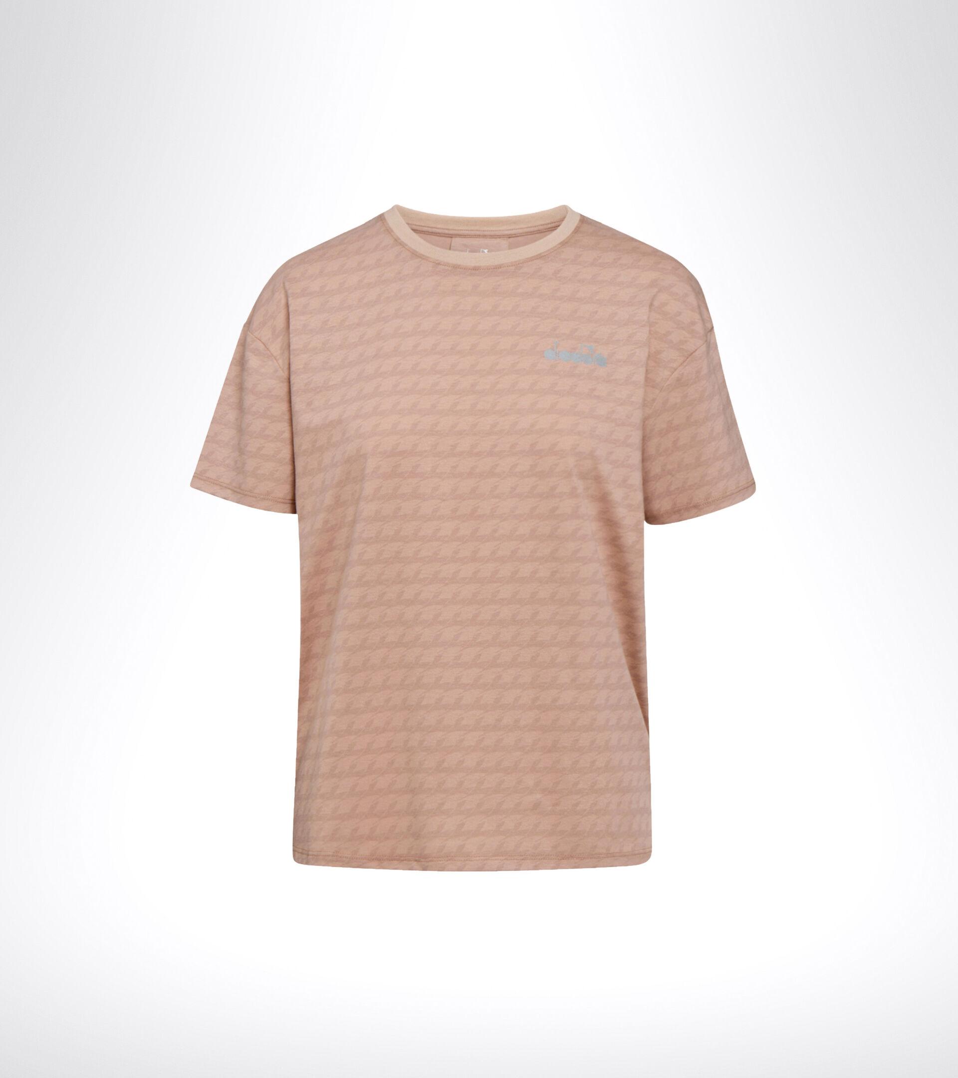 Sport-T-Shirt - Damen L. SS T-SHIRT PLUS BE ONE MAHAGONI ROSE MUSTER - Diadora