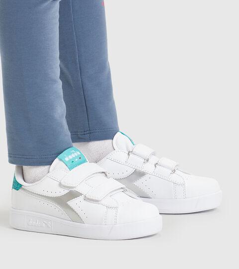 Footwear Sport BAMBINO GAME P PS GIRL BLANCO/AZUL TURQUESA Diadora