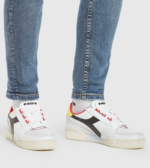Footwear Sportswear UOMO DAVIS LEATHER WHITE/BLACK/LIMELIGHT Diadora
