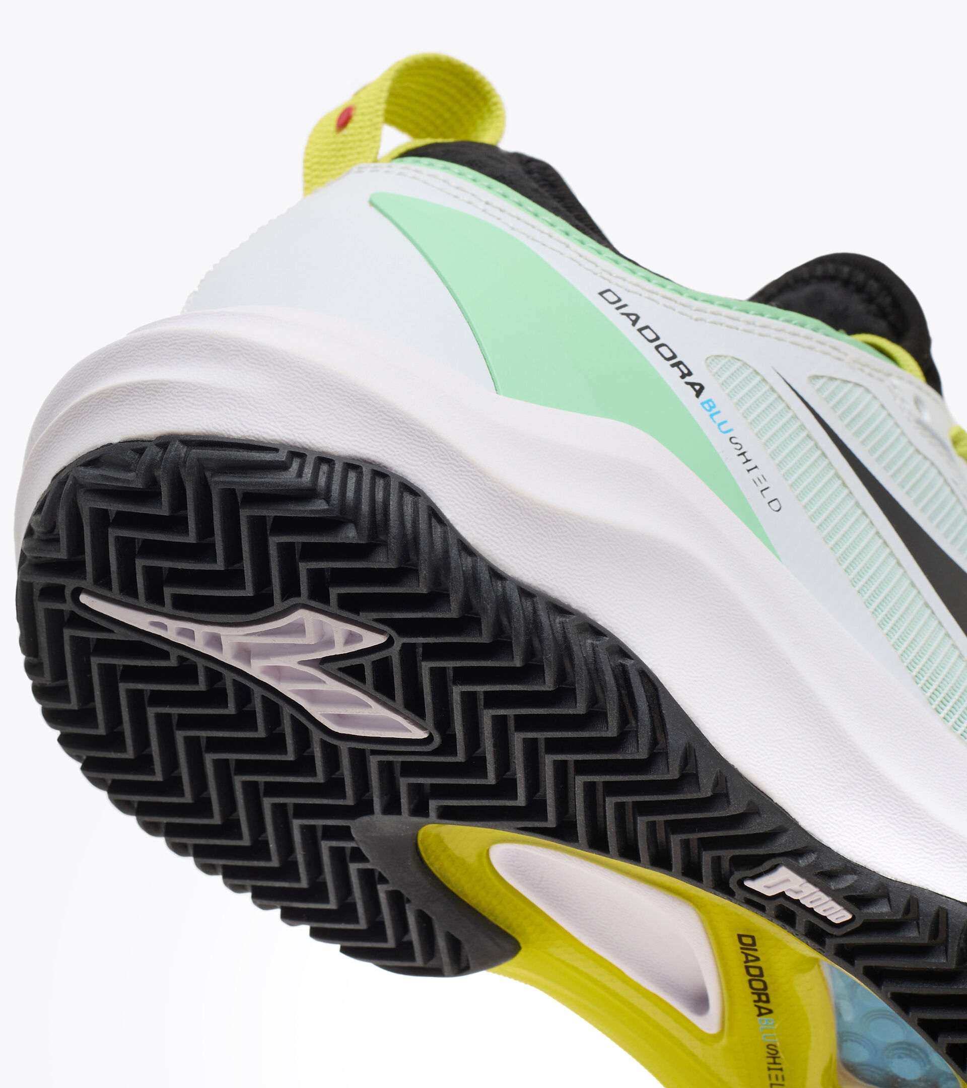 Footwear Sport DONNA SPEED BLUSHIELD FLY 3 + W CLAY WHITE/BLACK/GREEN ASH Diadora
