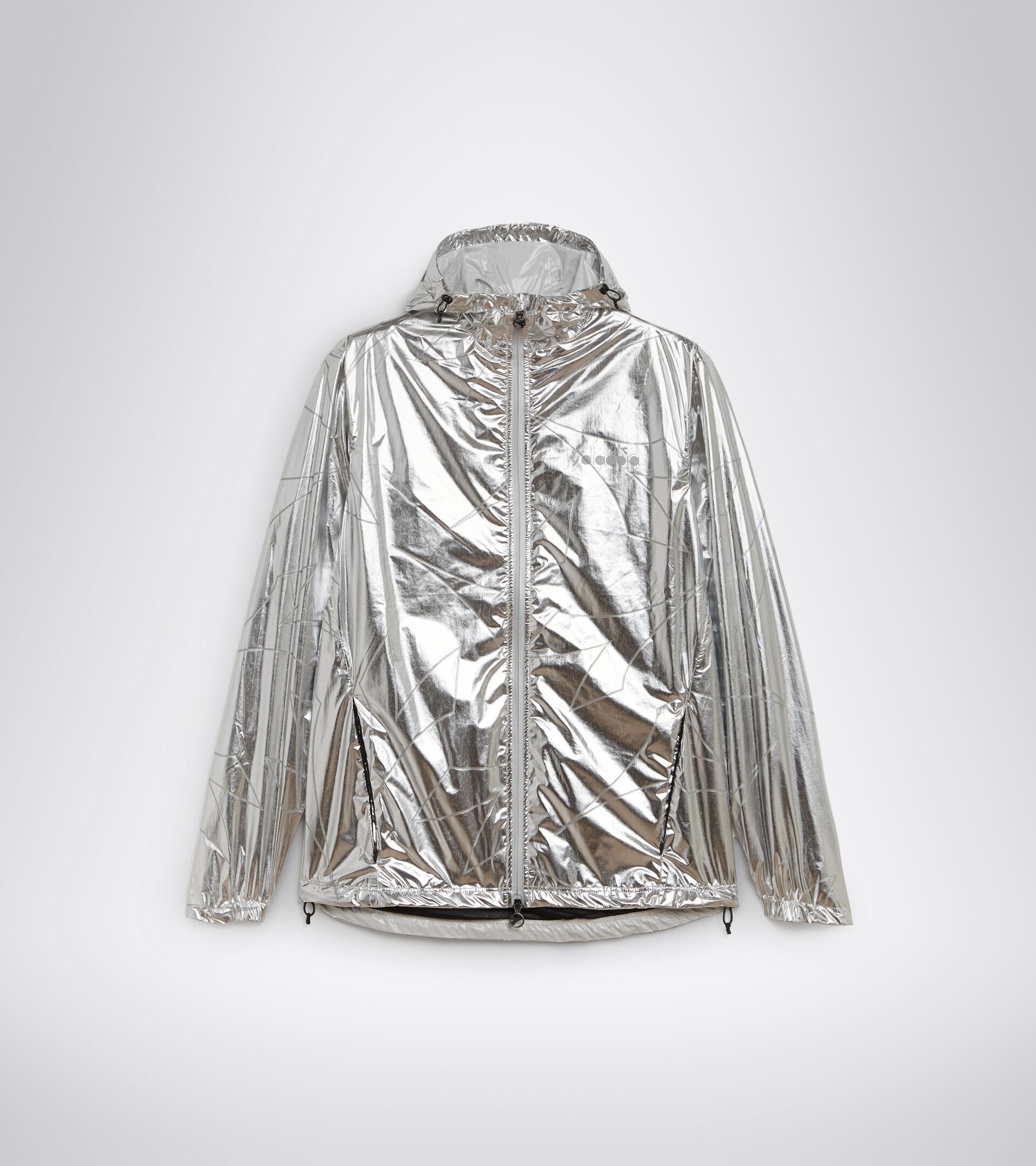 Waterproof running jacket - Men RAIN LOCK JACKET SILVER REFLEX - Diadora