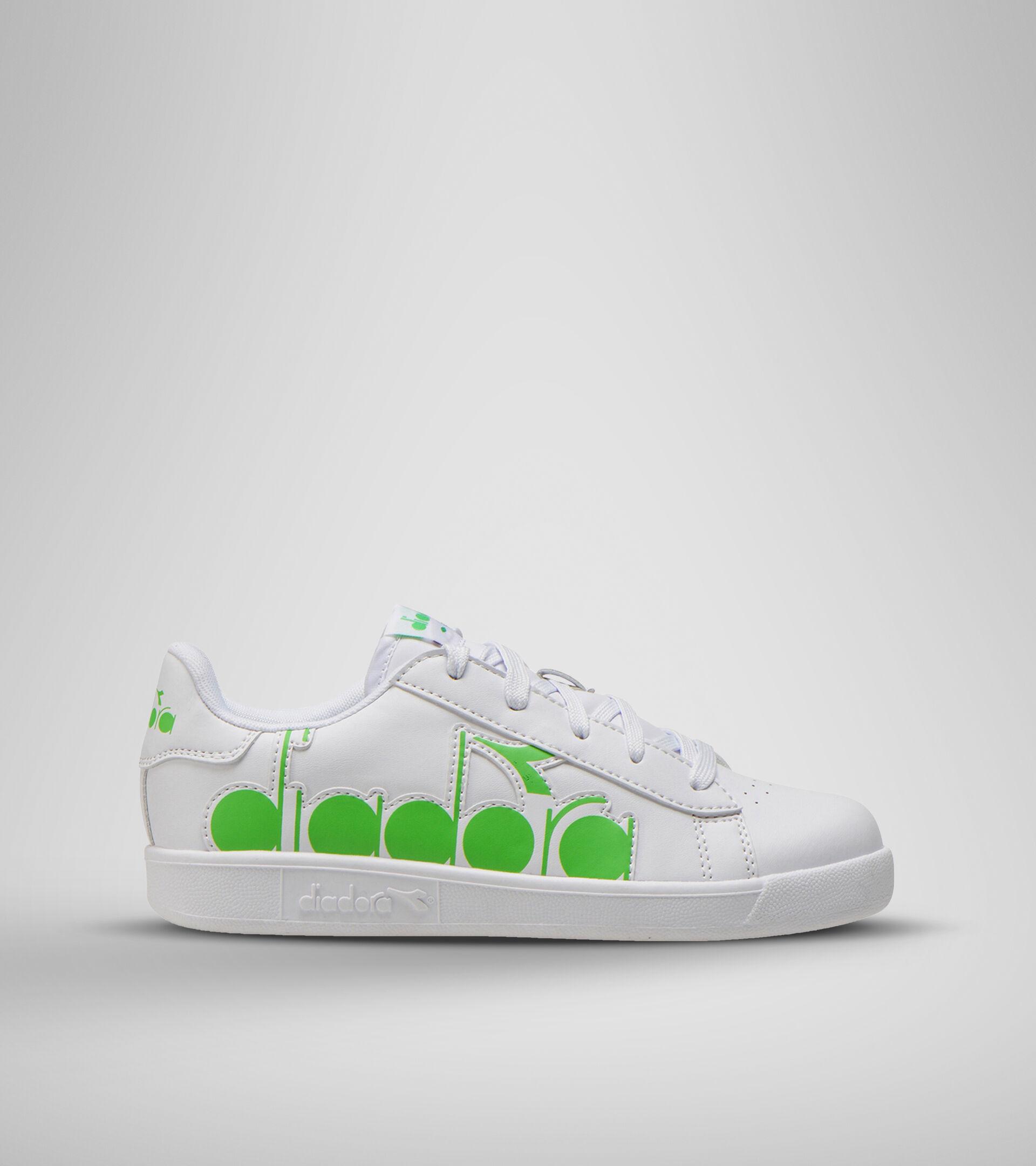 Chaussures de sport - Unisexe Enfant GAME P BOLDER GS BIANCO/VERDE EVIDENZIATORE - Diadora