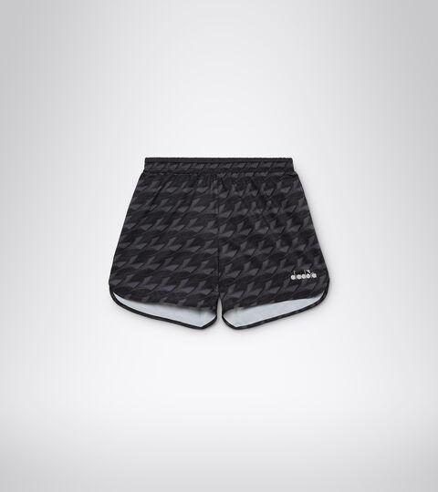 Running shorts - Men MICROFIBER SHORTS 12,5 CM ALL OVER BLACK - Diadora