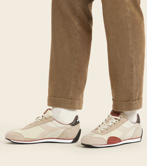 Chaussures Heritage Made in Italy - Homme EQUIPE ITALIA BLANCHE HUITRE - Diadora