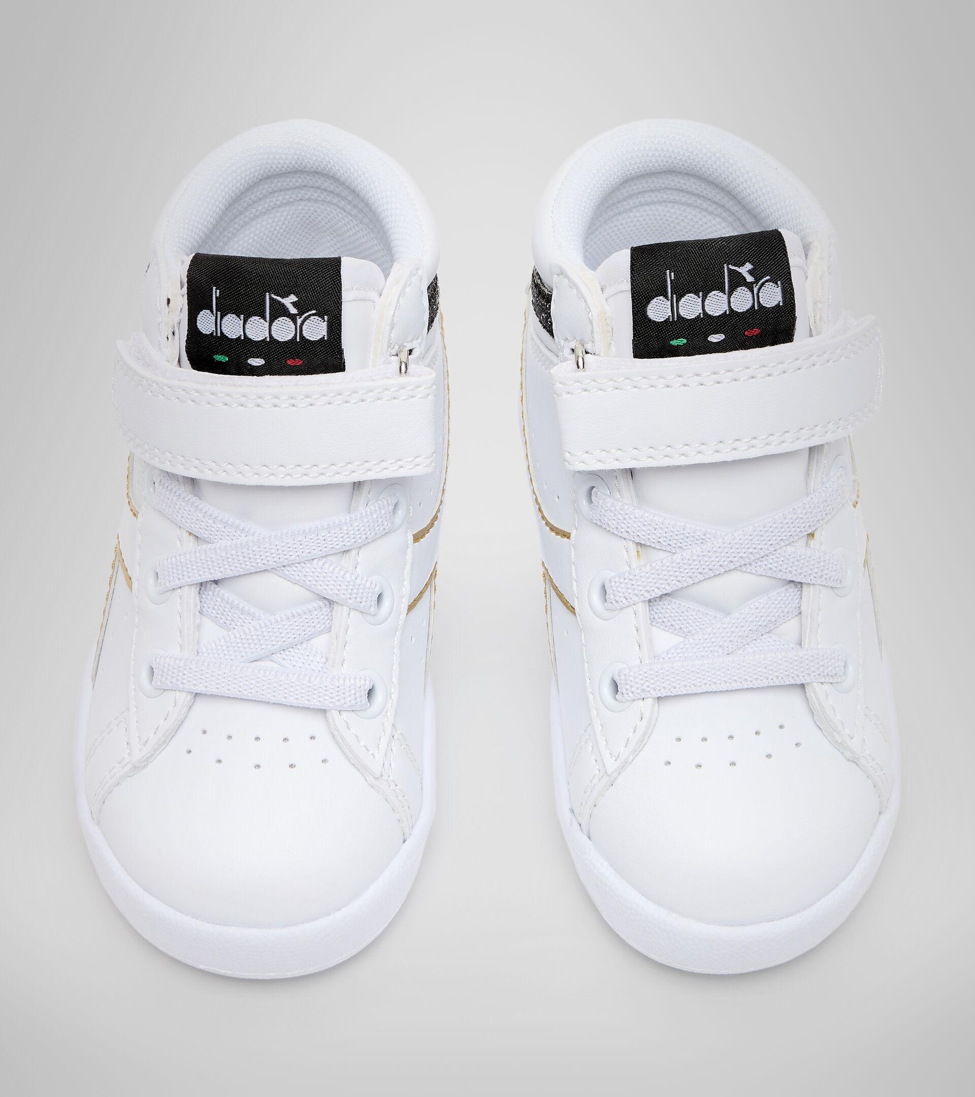 Footwear Sport BAMBINO GAME P HIGH GIRL TD WHITE/BLACK/GOLD Diadora