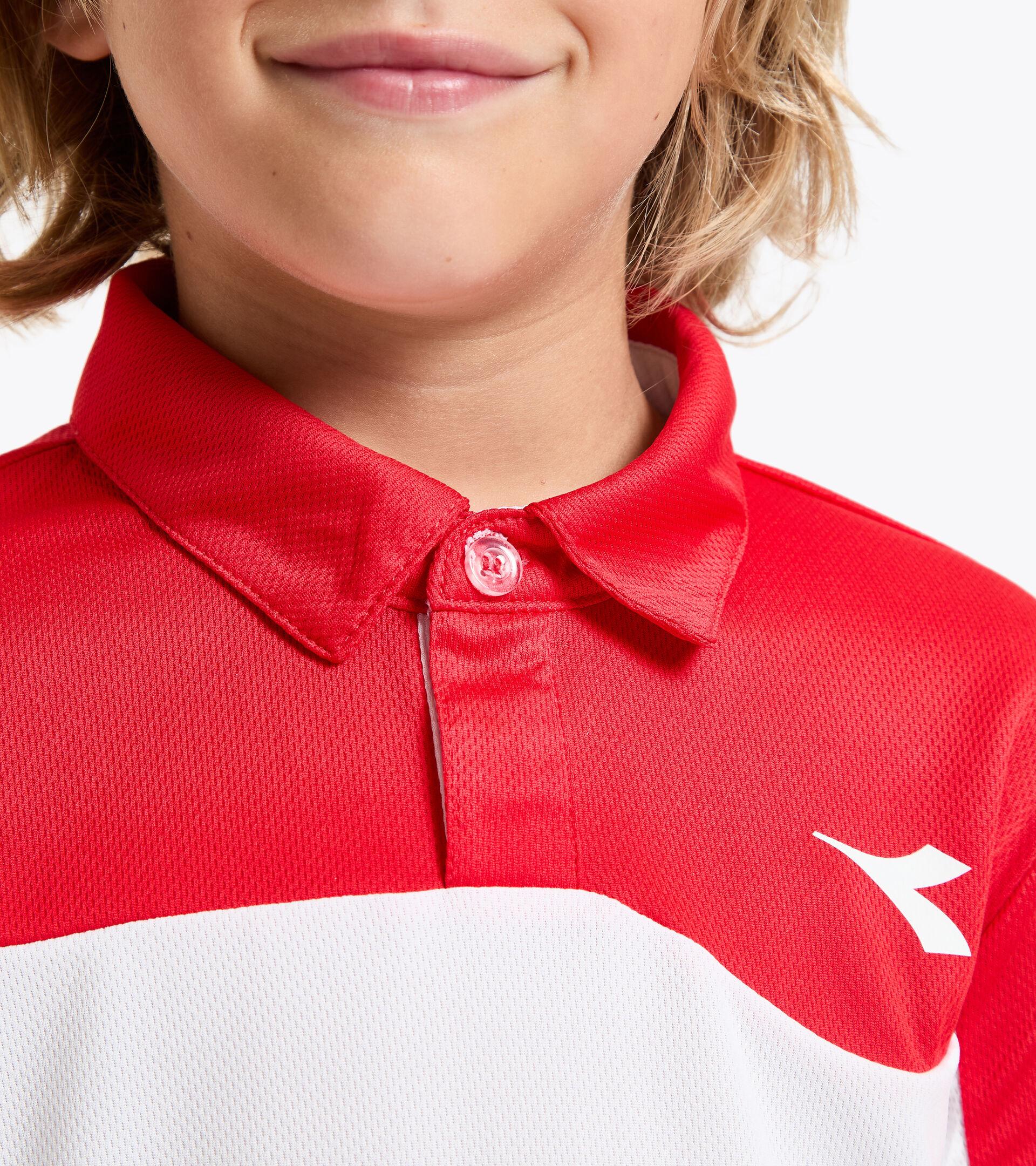 Apparel Sport BAMBINO J. POLO COURT TOMATO RED Diadora