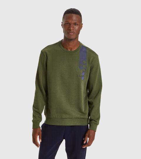 Crew-neck sweatshirt - Unisex SWEATSHIRT CREW ICON CYPRESS GREEN - Diadora