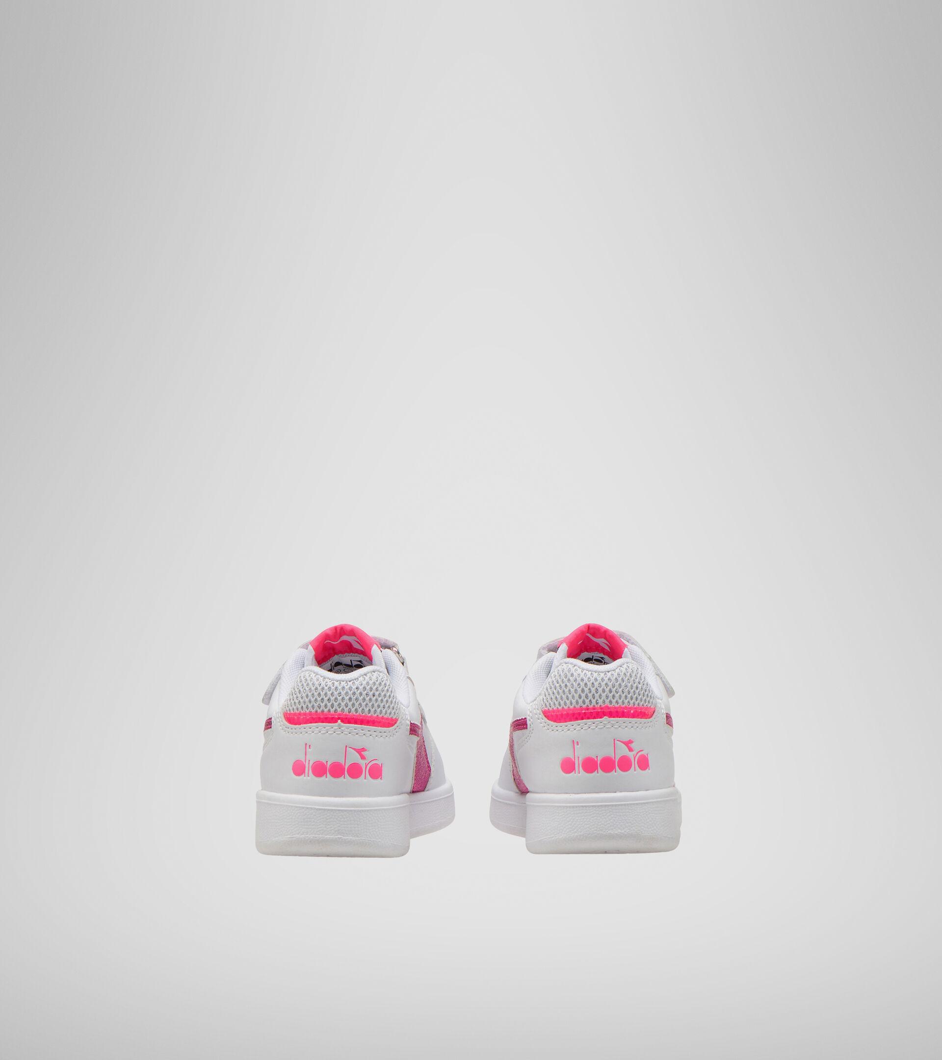 Footwear Sport BAMBINO PLAYGROUND PS GIRL WHITE/PINK FLUO Diadora